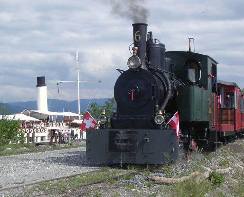 Museumsbahn mit Hohentwiel © Museumsbahn Lustenau